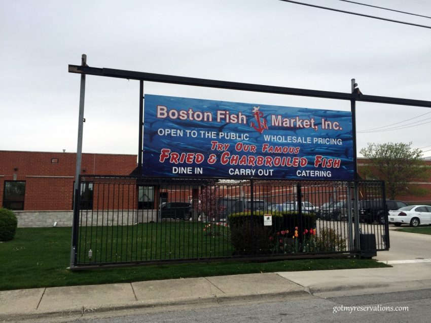 Boston Fish Market sign